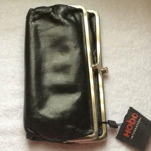 Handbags - Hobo leather double kiss wallet